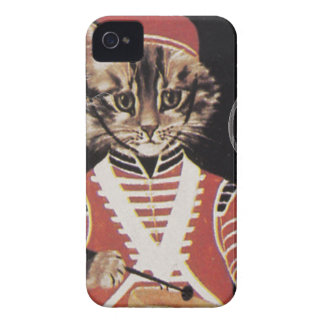 Victorian Marching Cat Drummer Boy Drum iPhone 4 Case-Mate Cases