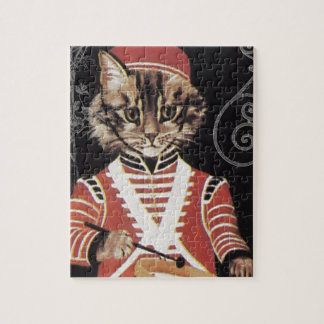 Victorian Marching Cat Drummer Boy Drum Jigsaw Puzzle