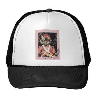 Victorian Marching Cat Drummer Boy Drum Trucker Hat