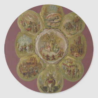 Victorian Mardi Gras Ball Round Sticker