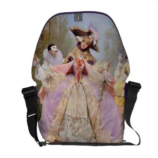 Victorian Masquerade Ball - Mardi Gras Messenger B Messenger Bag