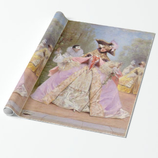 Victorian Masquerade Ball Mardi Gras Party Gift Wrapping Paper