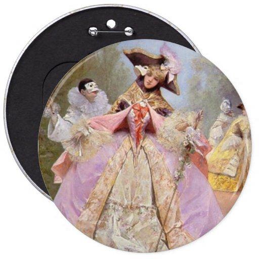 Victorian Masquerade Ball Pinback Buttons