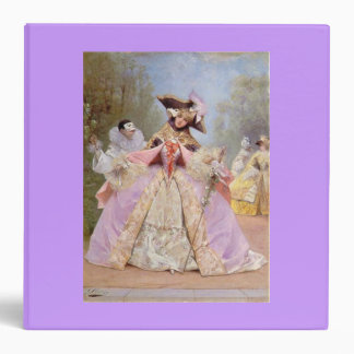 Victorian Masquerade Ball Purple Binder