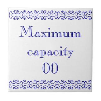 Victorian Maximum Capacity Sign Ceramic Tile