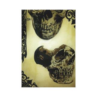 'Victorian Medical Skulls' Stretched Canvas Print
