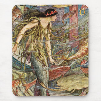Victorian Mermaid Art by H J Ford Mouse Pad