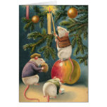 Victorian Mice Christmas Card