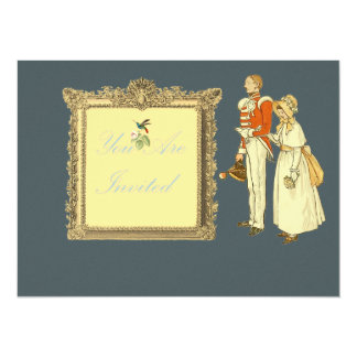 Victorian Military Officer and Lady Card