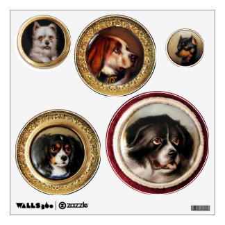 VICTORIAN MINIATURE DOG PORTRAITS COLLECTION WALL DECAL