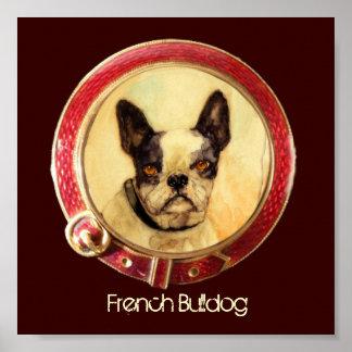 VICTORIAN MINIATURE DOG PORTRAITS French Bulldog Print