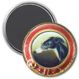 VICTORIAN MINIATURE DOG PORTRAITS Irish Greyhound Magnet