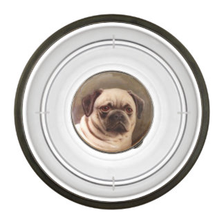 VICTORIAN MINIATURE DOG PORTRAITS / PUG BOWL