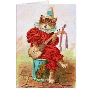 Victorian Minstrel Cat Note Card