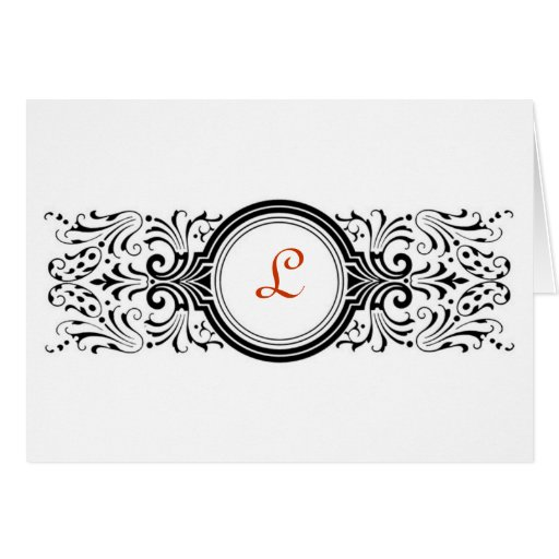 Victorian - Monogram Note Cards Cards
