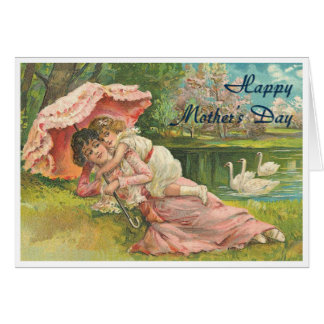 Victorian Mother and Child Card