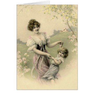 Victorian Mother and Child Note Card