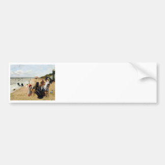 Victorian Mother and Daughter Beachside Bumper Sticker