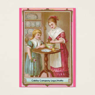 Victorian Mother & Daughter Baking Business Card