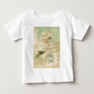 Victorian Mother Holding Child Mother's Day Card Baby T-Shirt
