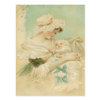 Victorian Mother Holding Child Mother's Day Card Postcard