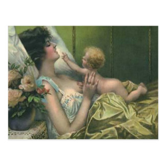 Victorian Mother & New Baby Mother's Day Card