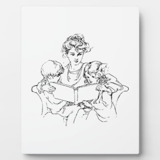 Victorian Mother Reads To Her Children Plaques