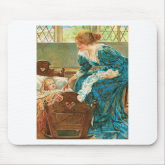 Victorian Mother Tending Her Baby In A Cradle Mouse Pad