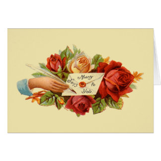 Victorian Mother's Day Card - Many Joys to You
