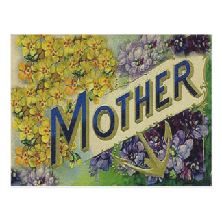 Victorian Mother's Day Card Postcard