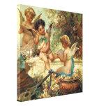 Victorian Music Angels by Hans Zatzka Stretched Canvas Print