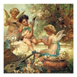 Victorian Music Angels by Hans Zatzka Custom Announcements