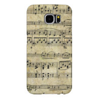 Victorian Music Sheet Wallpaper Samsung Galaxy S6 Cases