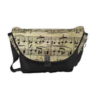 Victorian Music Sheet Wallpaper Courier Bag