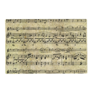 Victorian Music Sheet Wallpaper Placemat at Zazzle