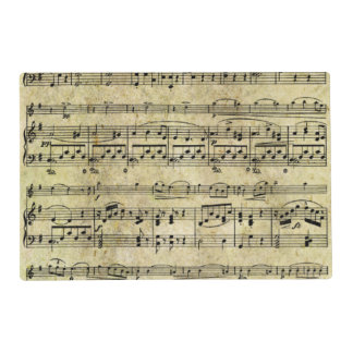 Victorian Music Sheet Wallpaper Placemat