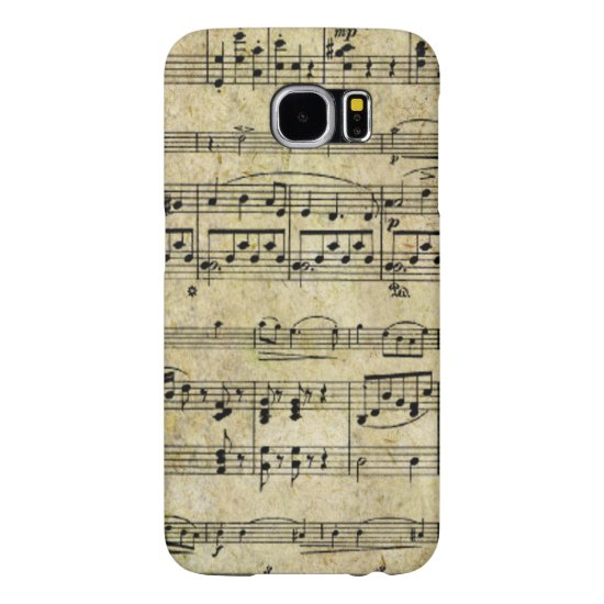 Victorian Music Sheet Wallpaper Samsung Galaxy S6 Case