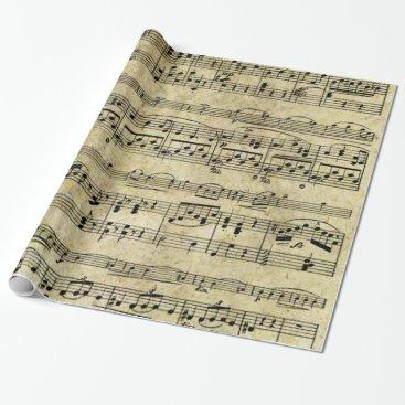 TrinketsandTreasures Victorian Music Sheet Wallpaper Wrapping Paper
