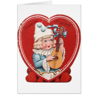 Victorian Musician Valentine's Day Card