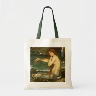 Victorian Mythology Art, Mermaid by JW Waterhouse Budget Tote Bag
