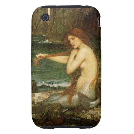 Victorian Mythology Art, Mermaid by JW Waterhouse Tough iPhone 3 Case