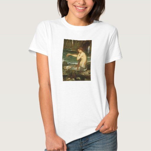 Victorian Mythology Art, Mermaid by JW Waterhouse Tshirts