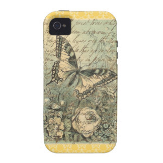 Victorian Natural Butterfly Collage iPhone 4/4S Cover