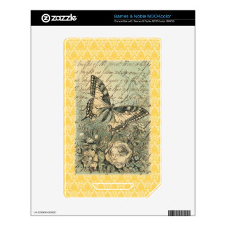 Victorian Natural Butterfly Collage Decals For The NOOK Color