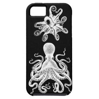 Victorian negro iphone5 de Kraken del pulpo de iPhone 5 Carcasa