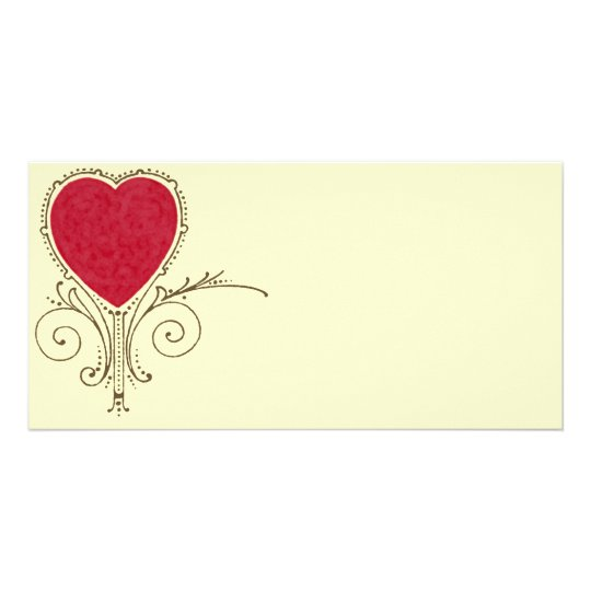 Victorian Nouveau Valentine Heart Card