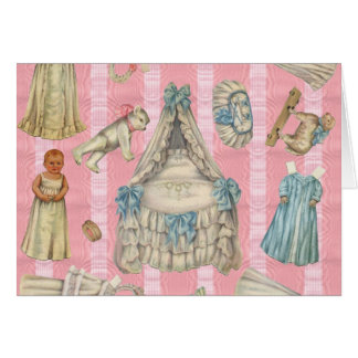 Victorian Nursery Paper Dolls Card