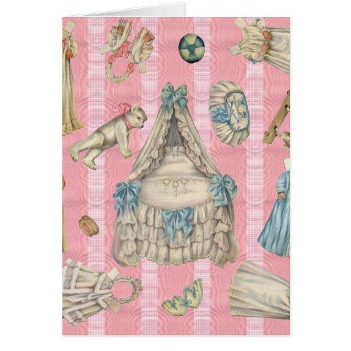 Victorian Nursery Paper Dolls Greeting Card