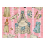 Victorian Nursery Paper Dolls Post Cards
