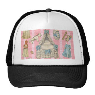 Victorian Nursery Paper Dolls Trucker Hat